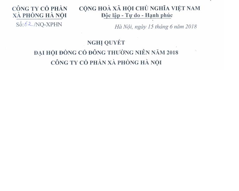 Nghị quyết Đại hội đồng cổ đông thường niên năm 2018